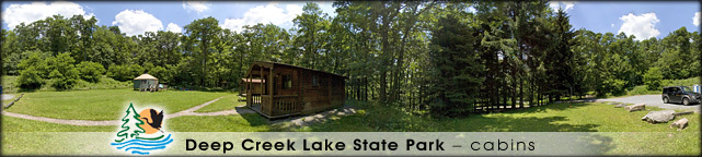New Germany State Park cabins