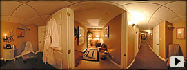 The Sewickley Spa dressing room & hallway